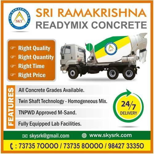 Ready Mix Concrete Manufacturer from Erode