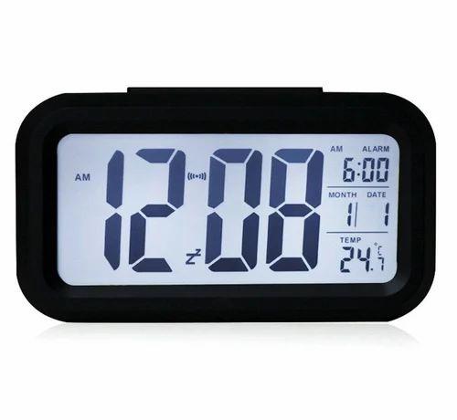 Bonzeal Led Sensor Snooze Temperature Digital Desk Alarm Clock Black 1000351