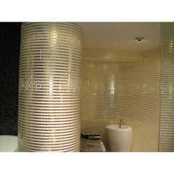 Glass Wall Cladding Gold Mosaic With Opal Series, Thickness: 0-5 Mm