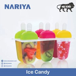 Ice Candy Mould Tray With Sticks,Candy Maker, Candy Ice Cream, Candy Box,Kulfi Maker Mould(6 Mould)