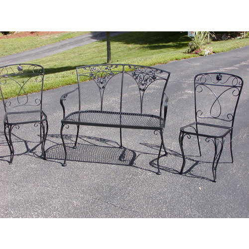 wrought iron garden furniture. Simple Garden Wrought Iron Garden Sofa Set Intended Furniture D