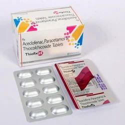 Aceclofenac Paracetamol Thiocolchicoside Tablet