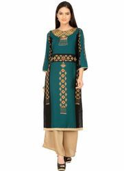 Western Style Party Wear Printed Crepe Kurti