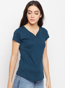 Women's Half Sleeve V-Neck 100% Cotton T-Shirt