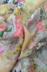 Cotton Plain Digital Printing Service For Georgette Fabric, Packaging Type: Poly Bag