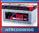 Mtreddin100 Exide Battery, Warranty: 48 Month