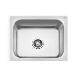 Single Mirror Finish Cera Stainless Steel Kitchen Sinks