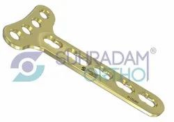 3.5mm LCP T Right Angle Locking Plate 4 Hole Head