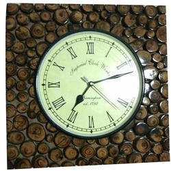 Al Deen Dark Brown Decorative Wooden Clock