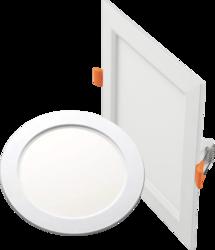 Nityam Chrome Slim Panel Light, 5 and 24 W