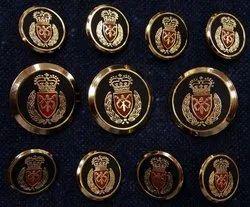 Designer brass coat button