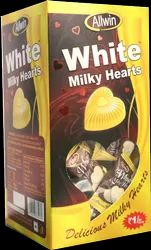 White Milky Hearts