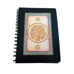 Abstract Imagination Spiral Bound Embroidered Spiral Notebook, Paper Size: 8*6 inch, for Collage and Office
