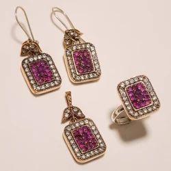 Turkish Trendy Ring Pendants Set