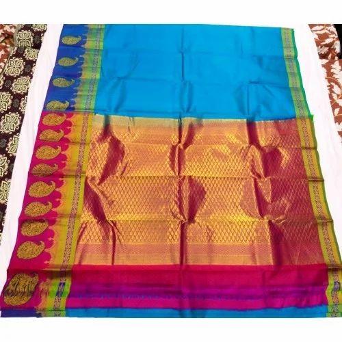Silk Wedding Designer Saree, 6.3 M (with Blouse Piece) ,Packaging Type: Plastic Bag