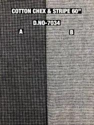 Cotton Chex & Stripes Print Fabric