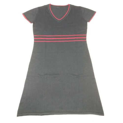 Half Sleeves Ladies Plain Knitted Dress, Size: S,M,L,Xl,Xxl