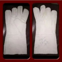 White Leather Hand Gloves, For Industrial