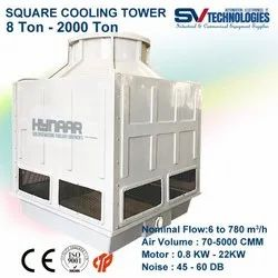 Fiberglass Reinforced Polyester Counter Flow Water Cooling Tower 10T-500T Square, For Industrial