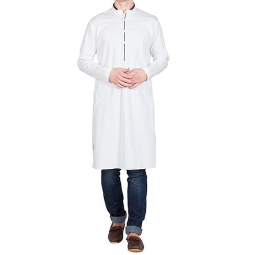 0350fee60e9 XS-S-M-L-XL-XXL Cotton White Slim Fit Kurta