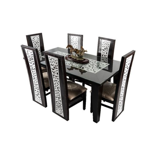 Wooden Black White Dining Table With 6chairs For Home Office Rs 10000 Piece Id 21959763697