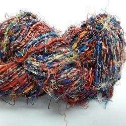 Multicolor Recycle Sari Silk Yarn