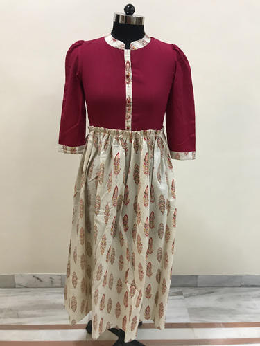 Lavanya Cotswool Fancy Top With Skirt Set