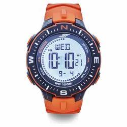 Round Men Sonata SF Vertex Orange Digital Watch