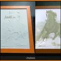 Horse Photo Carving On Corian
