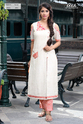 COLD SHOULDER KURTI WITH EMBROIDERY