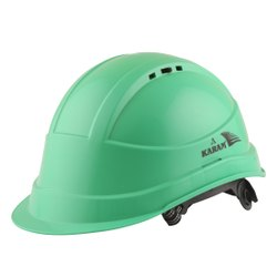 Karam PN541 Mint Green ISI Marked Safety Helmet with Peak