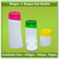 L Shape Talc Bottle