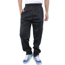 Black Polyester Sports Track Pant
