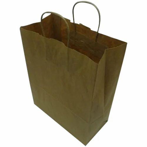 06e5a97a875 Plain Brown Kraft Paper Bag at Rs 12  piece