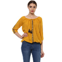 Ladies Casual Mustard Top