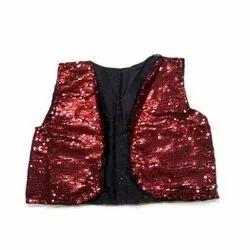 Georgette L Party Wear Waistcoat, Packaging Type: Packet