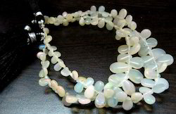 Ethiopian Opal Beads heart Shape Plain Briolette beads