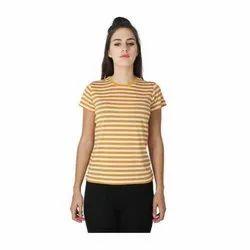 Ladies Casual Half Sleeve Striped Top