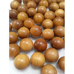 Brown Sandalwood Polished Beads, Shape: Round