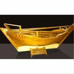 Golden Handcraft Ship for Interior Decoration