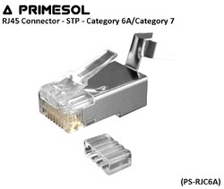 RJ45 Connector - STP - Category 6A/Category 7 (PS-RJC6A)