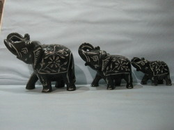 Black Marble  Elephant Statues