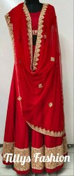 PURE ZARDOSI  RED  WEDDING LEHENGA