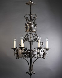 MS Roof Mount Antique Victorian Chandelier, For Home Decoration
