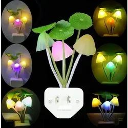 Fancy Mushroom Shape Automatic  LED Color Changing Lamp-Flower Light
