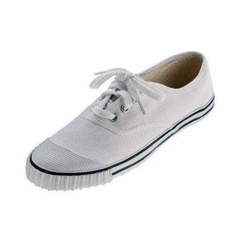 Canvas White Kids Sports Shoes NU