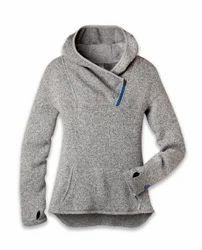 Ladies Grey Woollen Sweatshirts