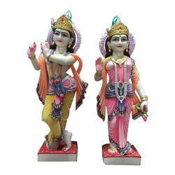 36 Inch Marble Radha Krishna Statue