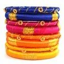 Multi-Color Silk Thread Bangles