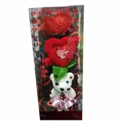 White Teddy Flower Bouquet, For Home, Gifting